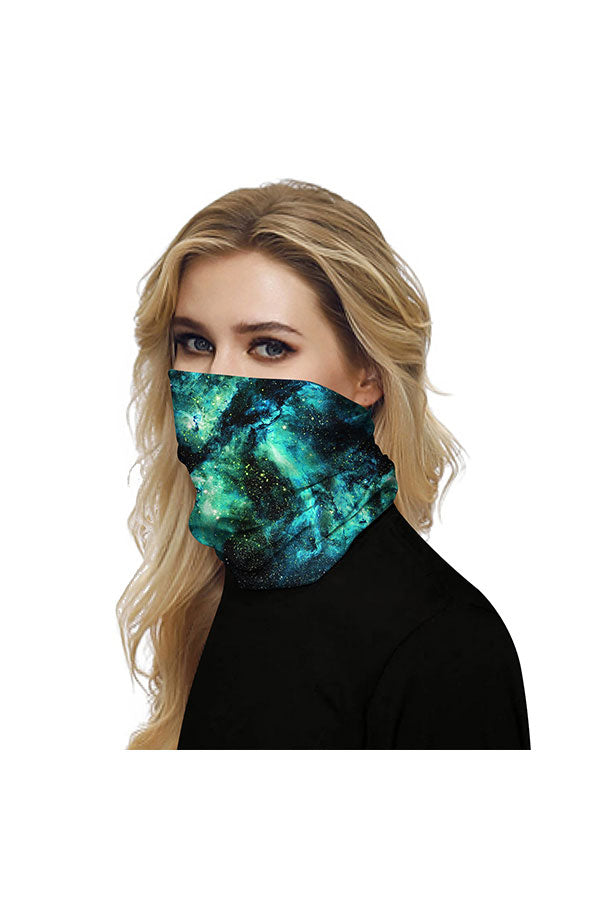 Unisex Galaxy Print Windproof Motorcycle Neck Gaiter For Outdoor