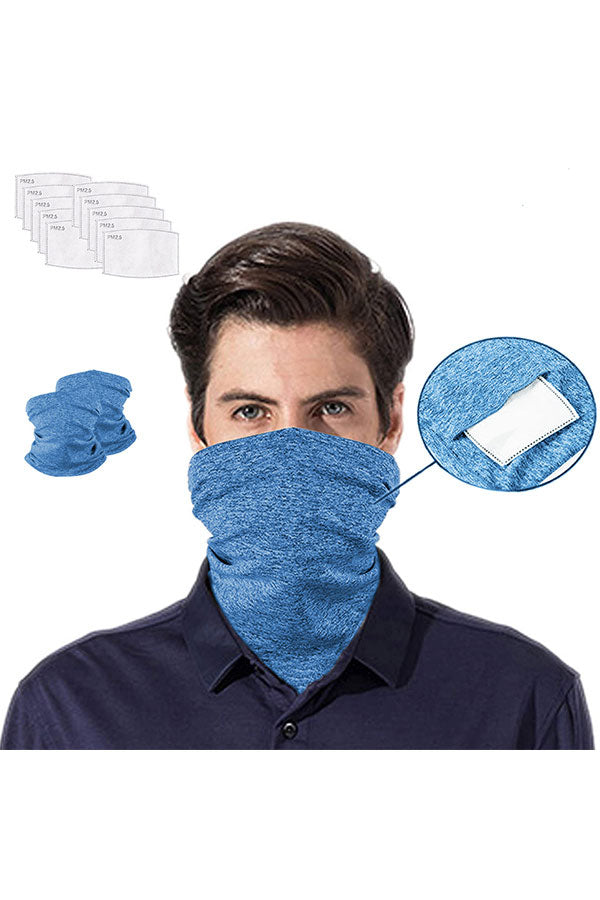 Multi-purpose Neck Gaiter With Filter For Dust Protection
