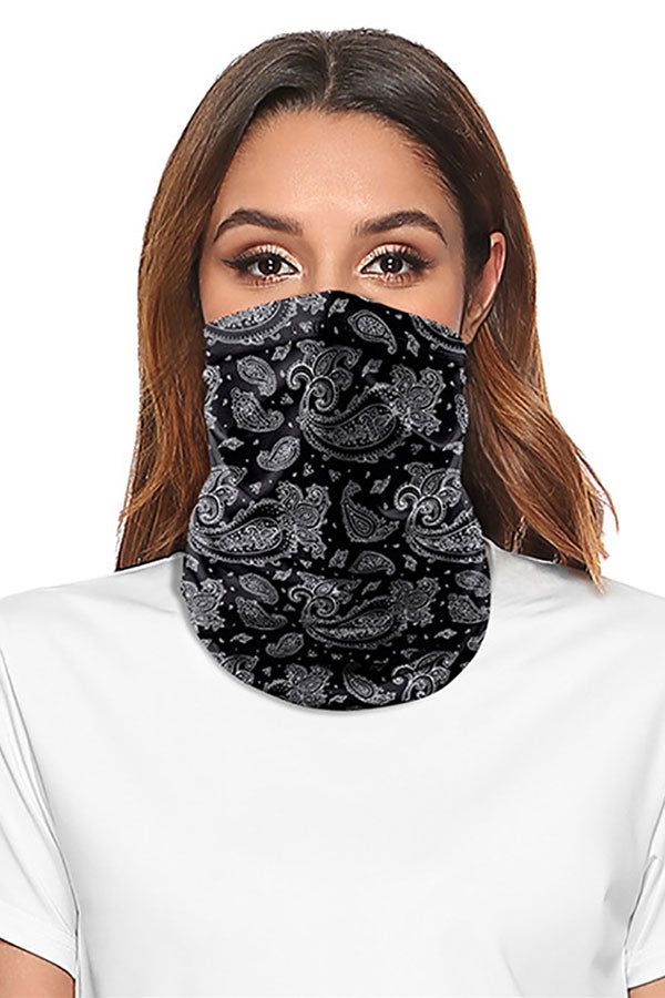 Outdoor Multifunctional Paisley Print Motorcycle Neck Gaiter
