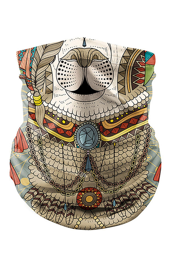 Print Multifunctional Bandanas Motorcycle Neck Gaiter