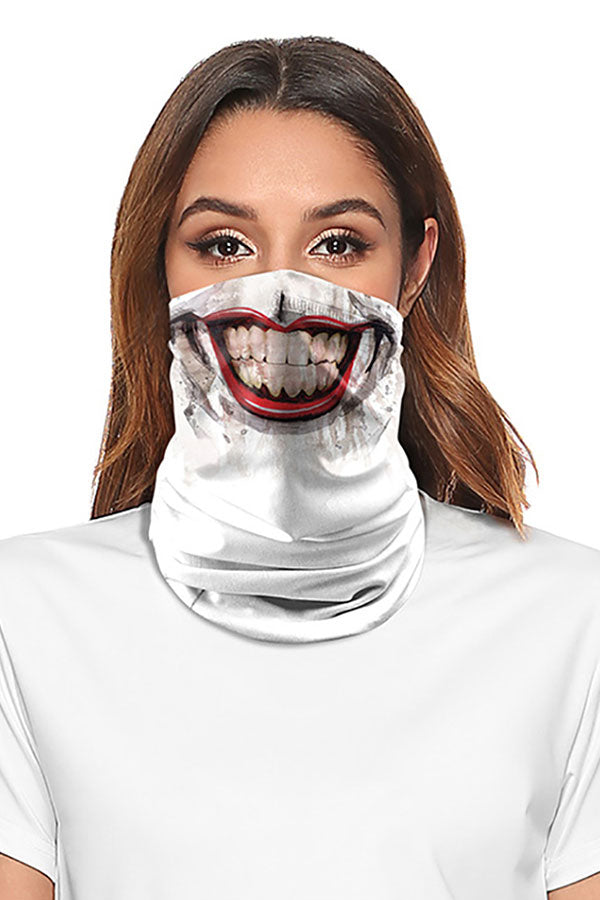 Mouth Print Multifunctional Shield Scarf Neck Gaiter