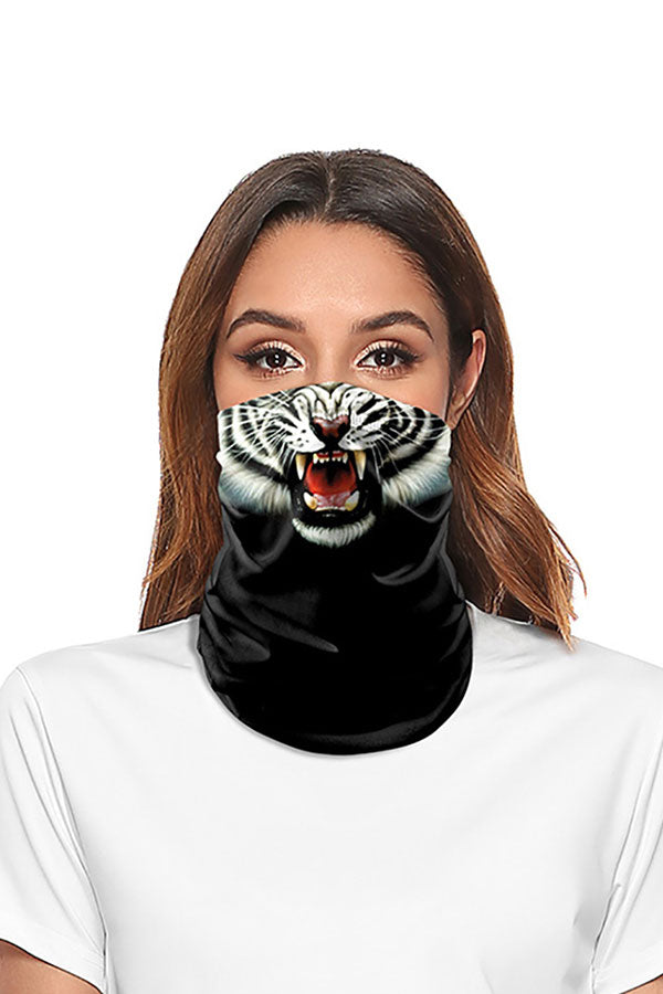Unisex Funny Tiger Print Neck Gaiter Headwear For Sun Protection