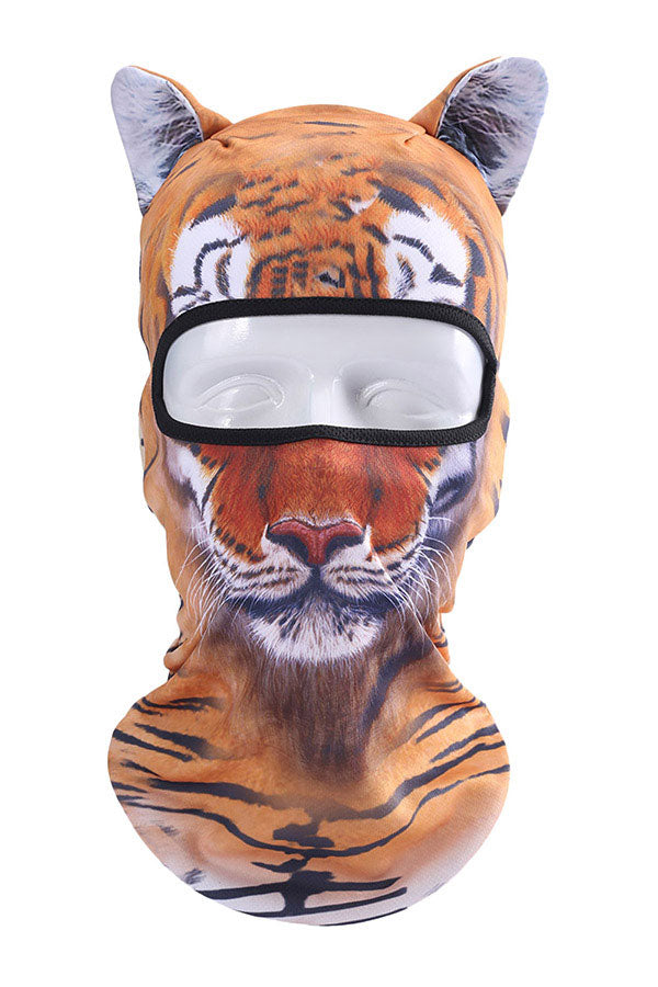 Funny Animal Tiger Print Neck Gaiter Motorcycle Balaclava