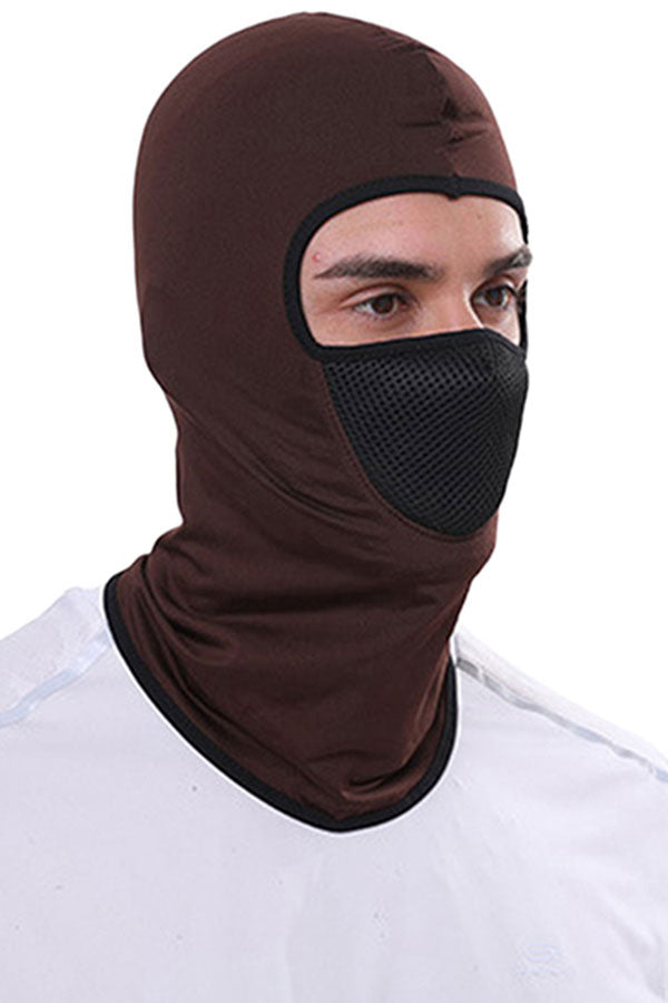 Outdoor Sports Solid Windproof Balaclava For Sun Protection