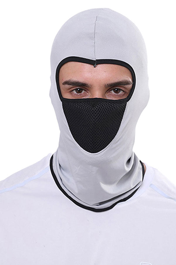 Unisex Breathable Color Block Balaclava For Dust Protection