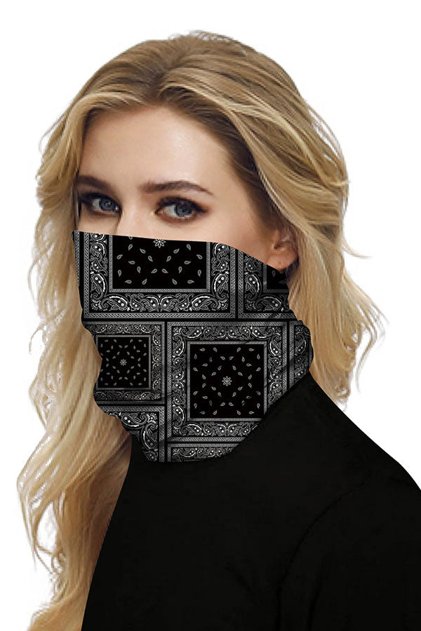 Unisex Paisley Print Neck Gaiter For Sun Protection