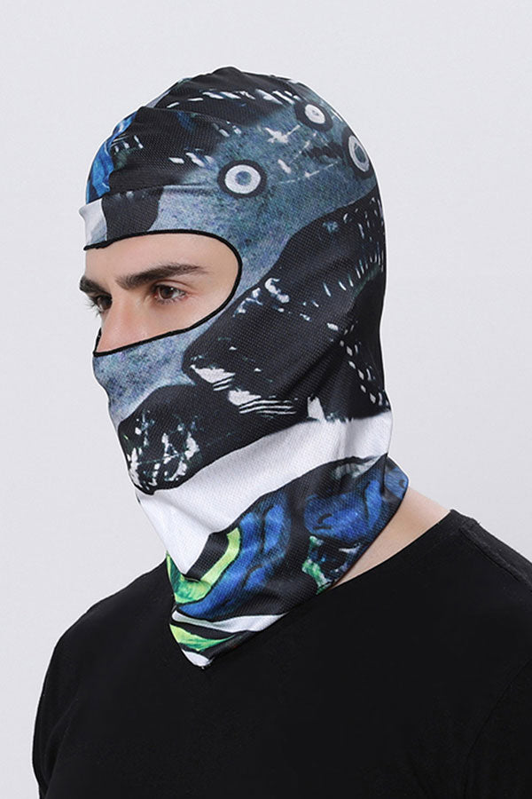 Unisex Windproof Print Balaclava For Dust Protection