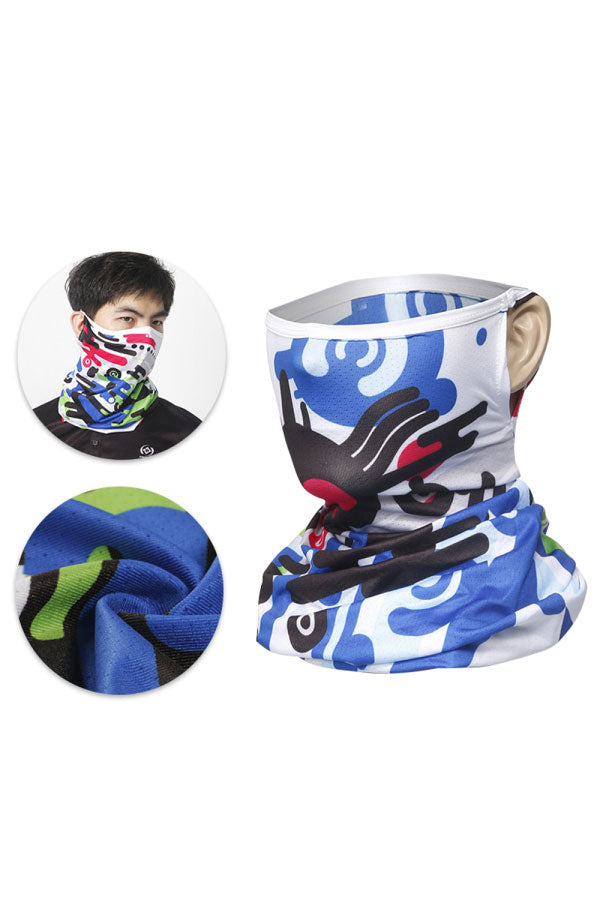 Summer Breathable Funny Print Cycling Neck Gaiter For Sun Protection