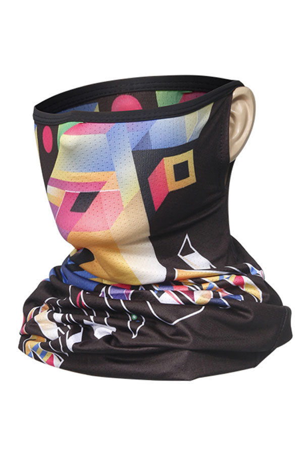 Abstract Print Breathable Earloop Neck Gaiter For Adult