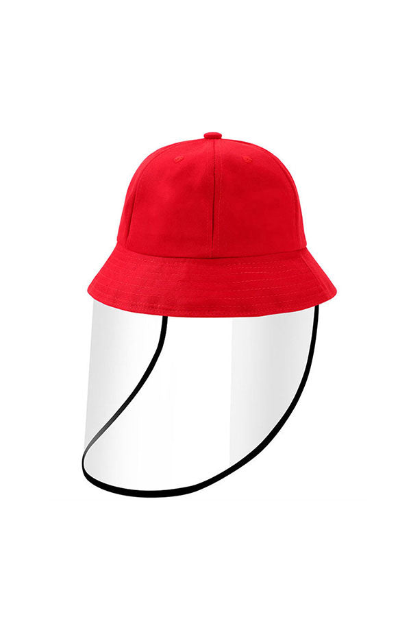 Solid Bucket Hat With Splash Proof Shield For Kids