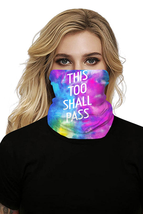 Colorful Tie Dye Print Bandanas Multifunctional Neck Gaiter
