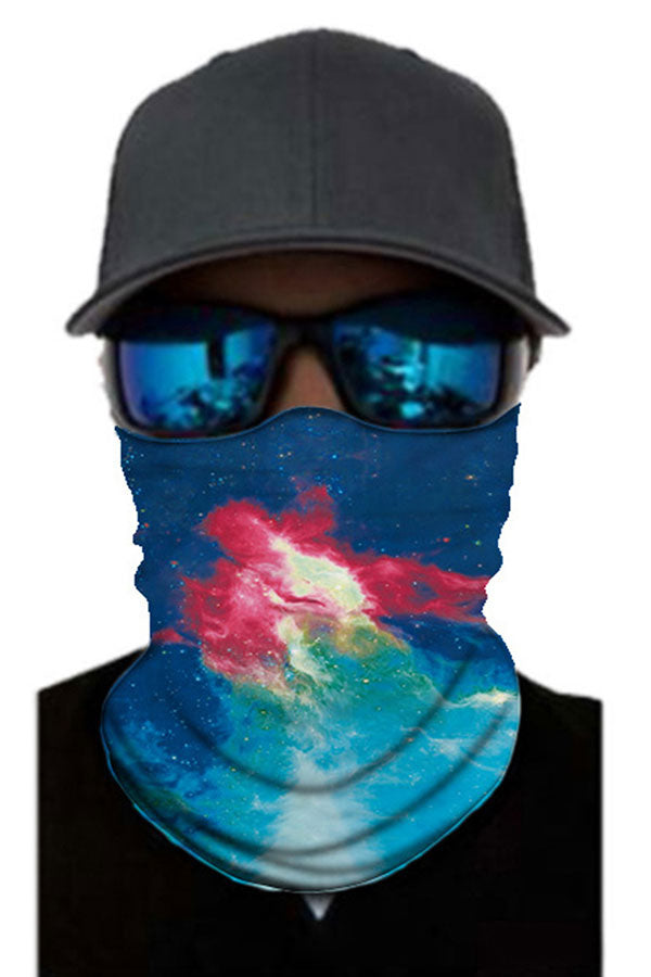 Windproof Galaxy Print Cycling Bandanas Outdoor Neck Gaiter