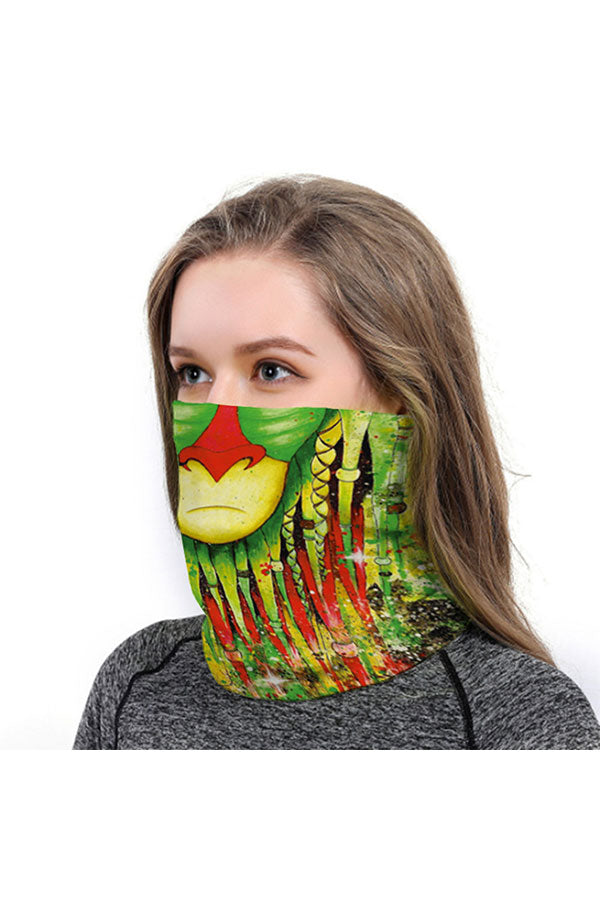Cartoon Print Windproof Neck Gaiter For Sun Protection