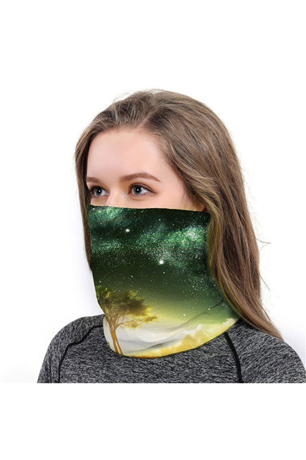 Unisex Galaxy Print Neck Gaiter Motorcycle Shield For Outdoor