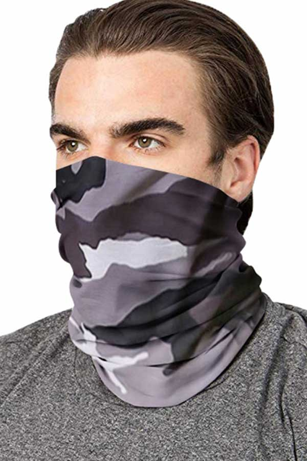 Multifunctional Camo Print Neck Gaiter For Sun Protection
