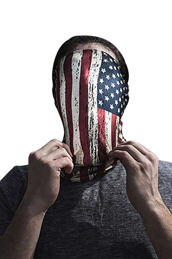 Flag Print Outdoor Bandanas Motorcycle Neck Gaiter