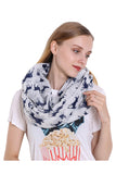 Reindeer Print Soft And Warm Christmas Shawl Scarf White