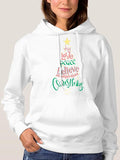 Women Christmas Tree Hoodie With Kangaroo Pocket