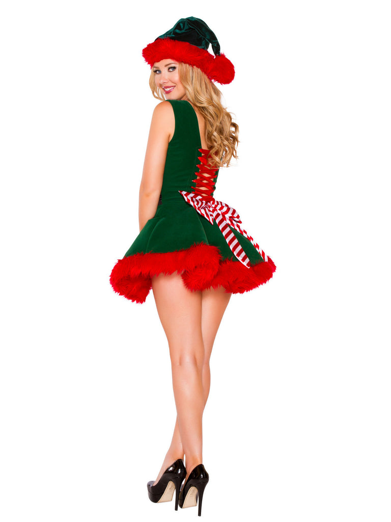 Womens Sexy Lace Up Elf Costume