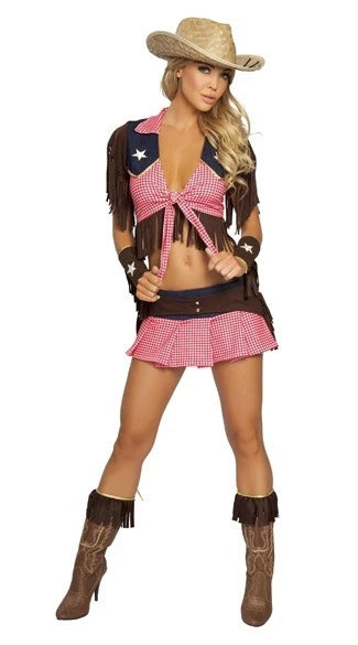 Pink Country Cowgirl Adult Outfit Circus Costume