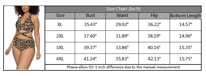 Women's Plus Size Criss Cross High Waisted Swimsuit