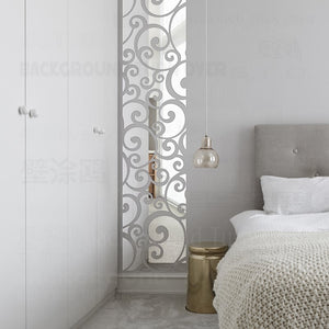 Mirror Wall Stickers Decals Walls Room Vintage Vine