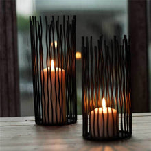 Load image into Gallery viewer, Black Bohemian Metal Candle Holders