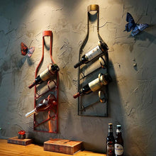 Load image into Gallery viewer, Vintage Wine Rack Wall Hanger