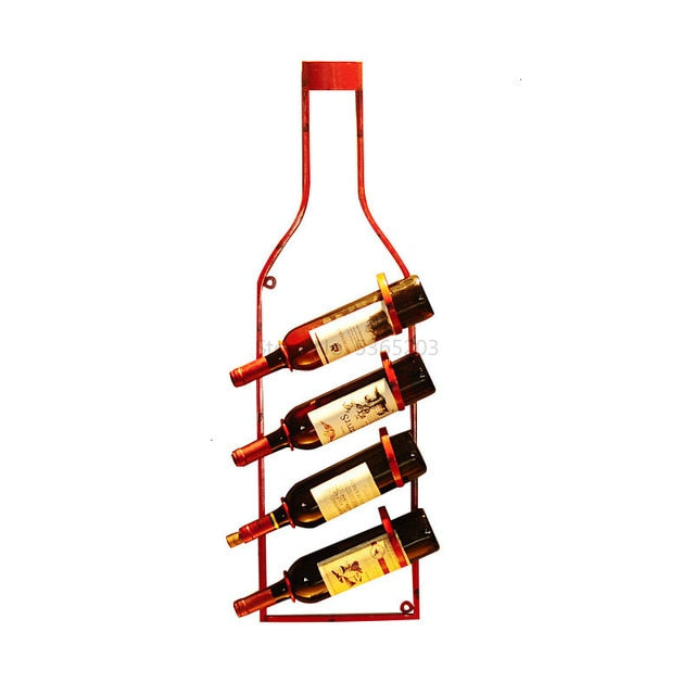 Vintage Wine Rack Wall Hanger