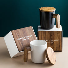 Load image into Gallery viewer, Gift Mugs Wooden Handle with Cover