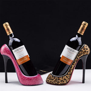 High Heel Shoe Wine Rack Bottle Holder