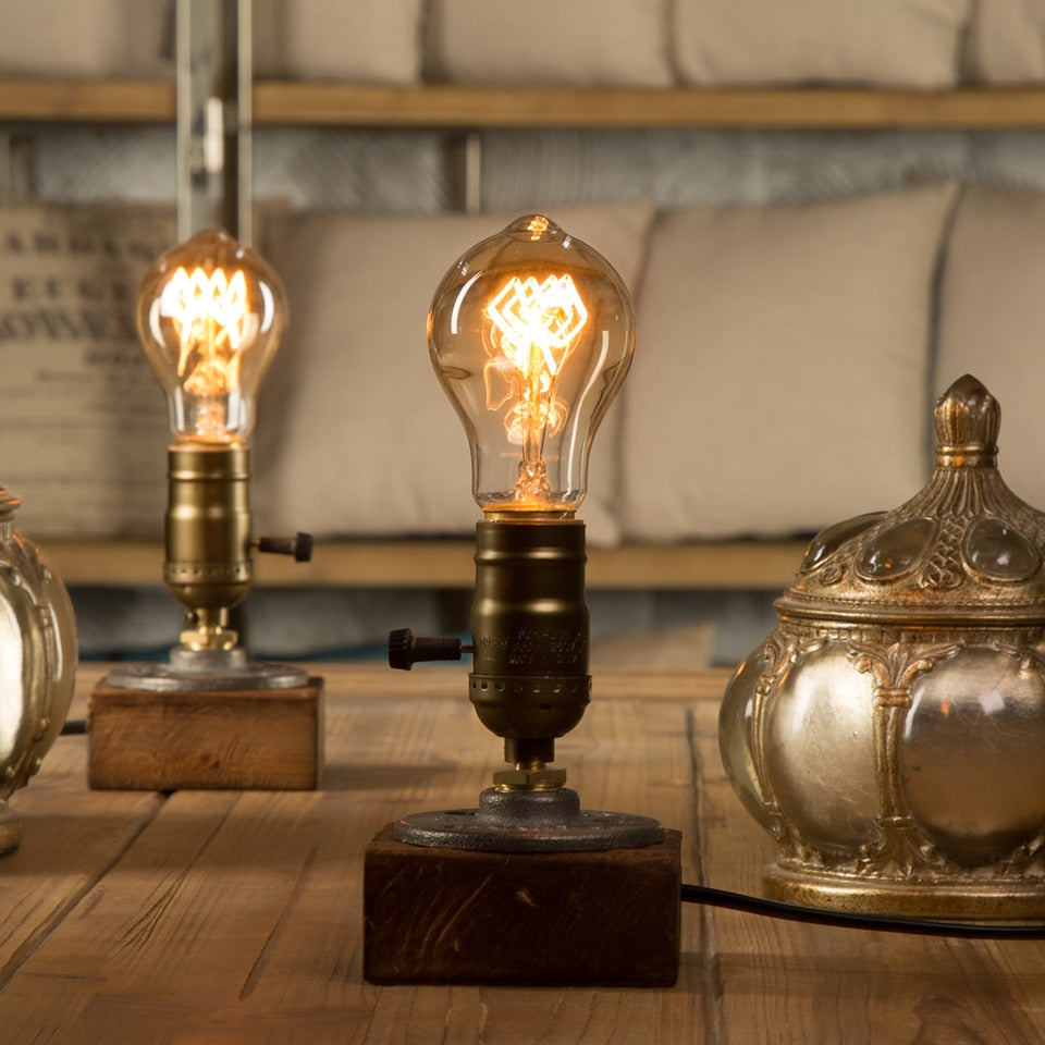 Dimmer Vintage Industrial Decor Table Light