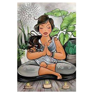 Diamond Embroidery Painting Meditation Lady