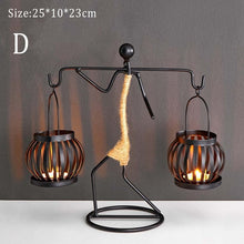 Load image into Gallery viewer, Metal Candlestick Sculpture Candle Holder Decor