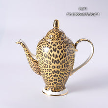 Load image into Gallery viewer, Leopard Print Coffee and Tea Set