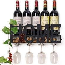 Load image into Gallery viewer, Wine Rack Glass Holder and Wall Bottle Hanger