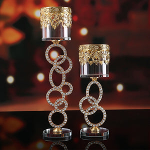 Modern Glass Crystal Candle Holders