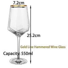 Load image into Gallery viewer, Goblet Red Wine and Diamond Champagne Glass