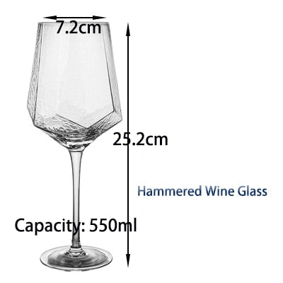 Goblet Red Wine and Diamond Champagne Glass