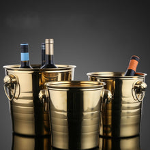 Load image into Gallery viewer, European Style Gold & Silver Stainless Steel Large Ice Bucket