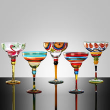 Load image into Gallery viewer, Handmade Colorful Cocktail Goblet Champagne Glass