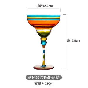 Handmade Colorful Cocktail Goblet Champagne Glass