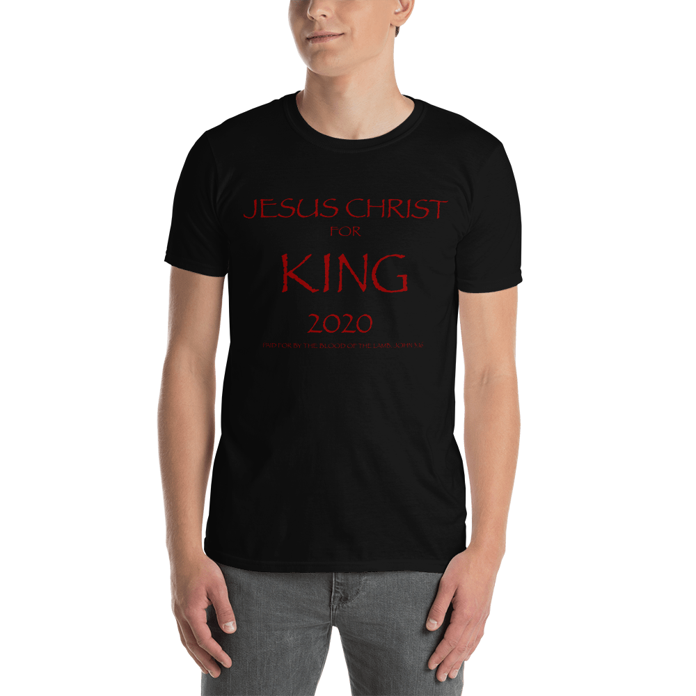 Mens Jesus Christ For King 2020 T-Shirt
