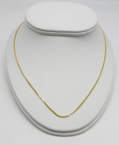 10k Yellow Gold Foxtail Chain
