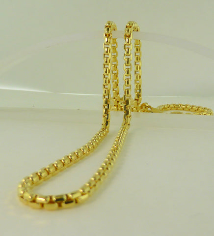 10K yellow gold cable necklace (19.7)
