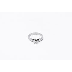 14K White Gold Classic Diamond Solitaire