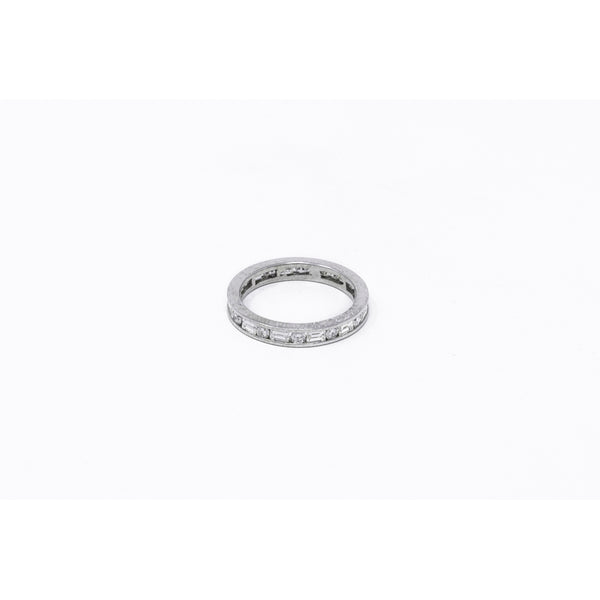 14k White Gold Full Diamond Eternity Ring