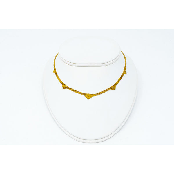 Gold Mesh Link Necklace