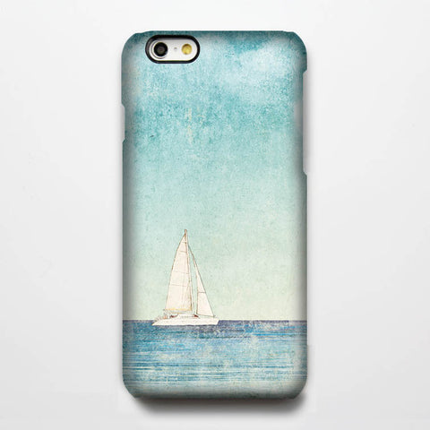 Sea and boat landscape iPhone 6s Case/Plus/5S/5C/5/4S Dual Layer Tough Case #124 - Acyc - 1