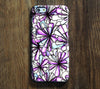 Purple Floral iPhone 6 Plus/6/5S/5C/5/4S/4 Dual Layer Tough Case #133 - Acyc - 1